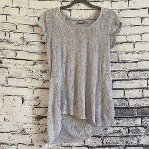 Kenar Striped Linen Short Sleeve Top
